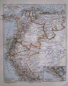 1897-Orig-Xilo-Geografica-PERU-COLUMBIA-EQUADOR-VENEZ