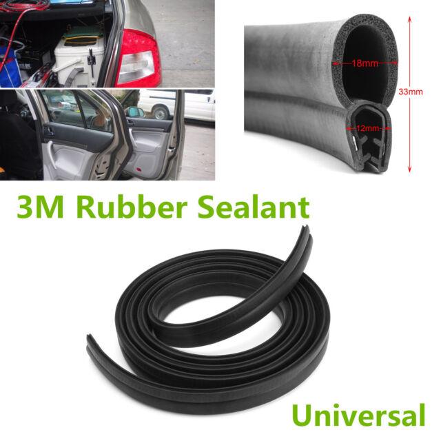 Black 3m Rubber O U Channel Edge Trim Seal Trunk Strip for Car Door ...