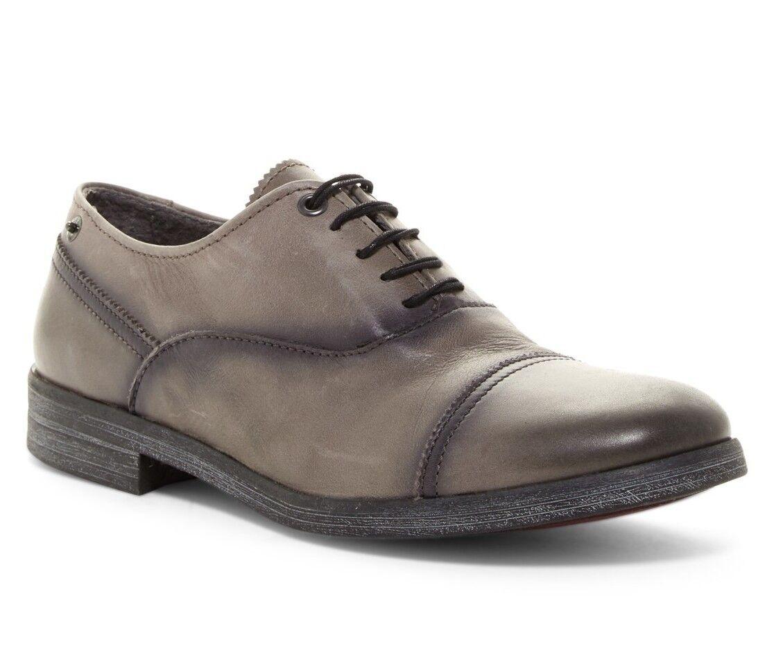 NEW Diesel Shokrim GREY Genuine Leather Men Oxford shoes Sz 45   US 12