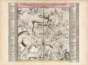 Old-Vintage-Decorative-Stars-map-Great-Bear-Andromeda-Doppelmayr-ca-1742