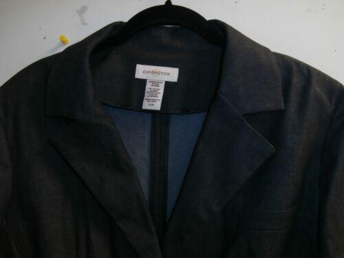 X Sz Large Woman's Front 3 Black ærmet Nwt denimjakke Covington Button 4 XYwnSn