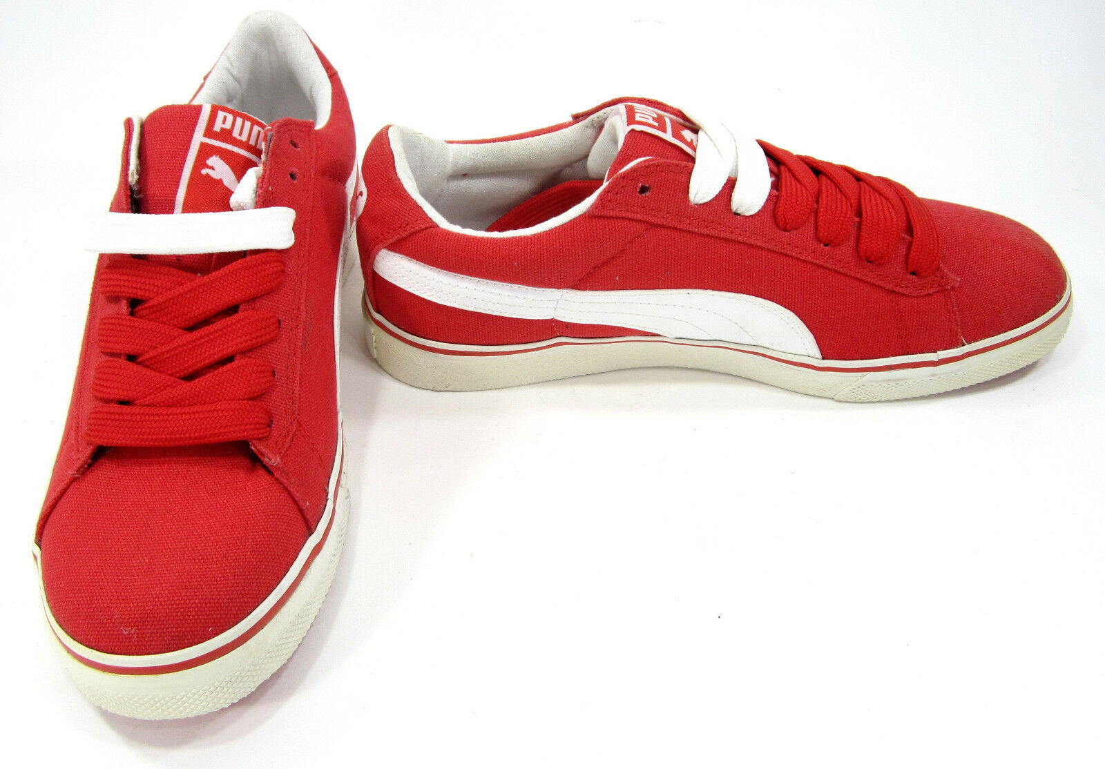 Puma shoes S Vulcanized Canvas Red White Sneakers Size 7.5