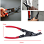 Car Door Upholstery Moulding Trim Clip Panel Removal Plier Manual Tools Pliers