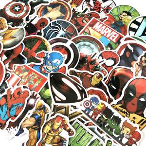 50-Pcs-Lot-Stickers-MARVEL-Avengers-Super-Hero-DC-For-Car-Laptop-Skatboard-Decal