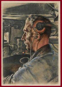 German WW 2 Third Reich postcard WEHRMACHT  THE TANK DRIVER