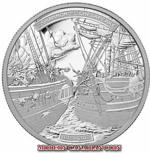 CANADA-50-5-oz-PURE-SILVER-COIN-THE-SHANNON-AND-THE-CHESAPEAKE-RCM-2013