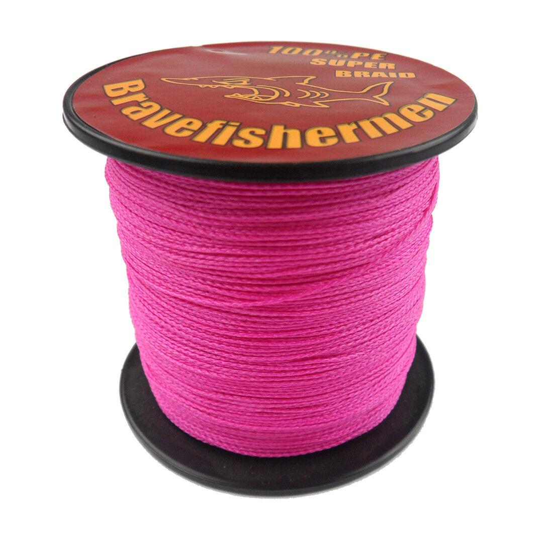 Strong Pink 100-1000M 6-300LB Test Dyneema Braided Fishing Line Bravefishermen