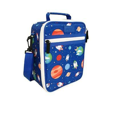 NEW Sachi Insulated Lunch Bag with Carry Strap and Zip - Outer Space - 225