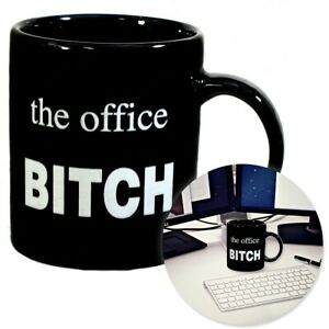 Novelty-Gift-THE-OFFICE-BITCH-MUG-Workplace-Colleague-Joke-Prank-Funny-Present