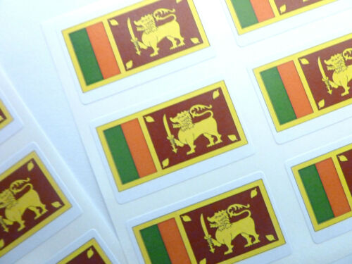 Autocollant Mini Pack autocollante SRI LANKA FLAG étiquettes fr236
