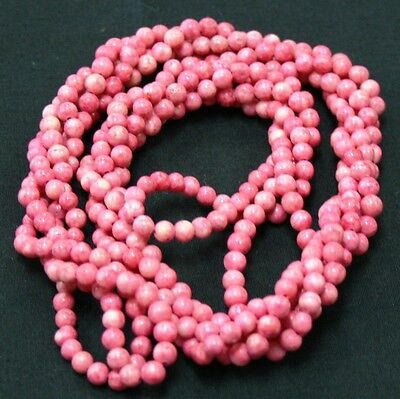 """Twist A Bead Genuine 1980/'s Original Necklace 32-36/"""" strands-Blue Agate 1 strand"""