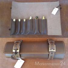 hochwertige Leder Sammelmappe für 6 Taschenmesser von Max Capdebarthes braun