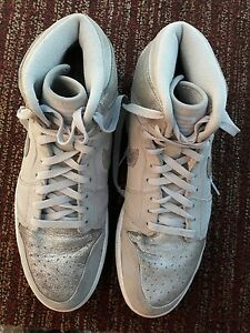 huge discount 7e87d 42840 Image is loading Nike-Air-Jordan-I-1-Retro-Hi-Silver-