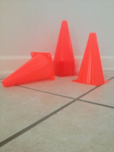 """Soccer Traffic Safety 10 New 9/"""" Tall Cones"""