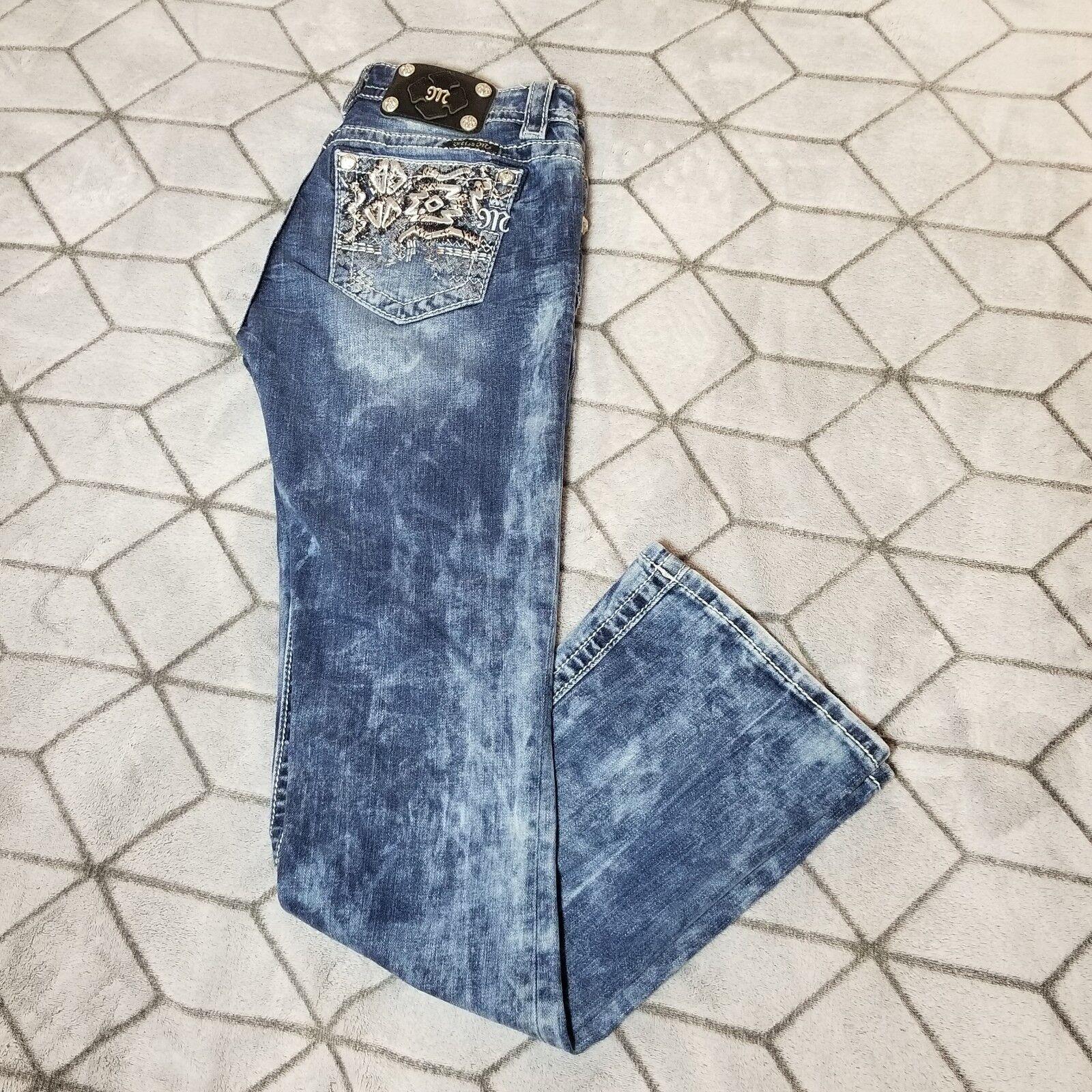 B31 Miss ME Signature Boot Cut Jeans Size 27 Inseam 32