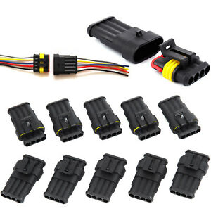 10X 3 Pin Way Super Seal Waterproof Electrical Terminal Wire Connector Plug