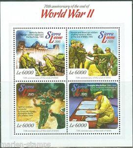 SIERRA LEONE 2015 70th ANN OF END WORLD WAR II DOUGLAS MacARTHUR SHEET MINT NH