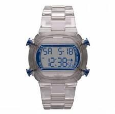 NEW-ADIDAS CANDY GREY PLASTIC STRAP+NAVY BLUE DIGITAL CHRONOGRAPH WATCH-ADH6509