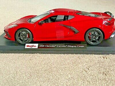 NEUF MAISTO 2020 Chevrolet Corvette Stingray Coupé voiture rouge échelle 1:18 Diecast SPE