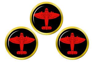 Royal-Observer-Corps-Rouge-Spitfire-Marqueurs-de-Balles-de-Golf