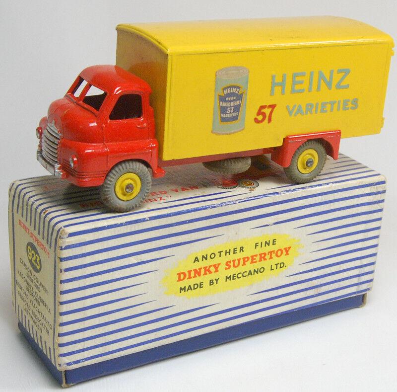 1955 DINKY  923 BIG BEDFORD VAN - HEINZ EXC W  EXC BOX