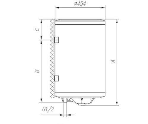 Boiler Warmwasserbereiter Wasserboiler 30 Liter Gorenje TGR30 Thermostat ECO Öko