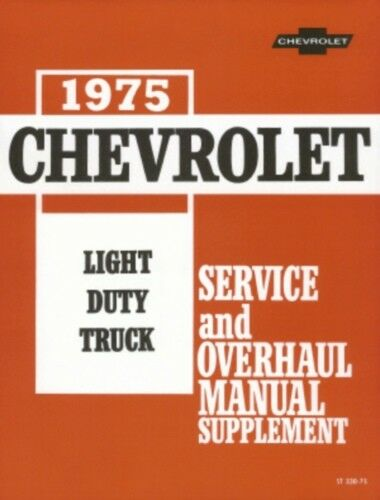 CHEVROLET 1975 Truck Shop Manual 75 Blazer /& Suburban