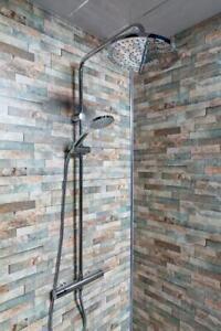 decorative brick bathroom shower wet wall panels pvc 2.4m