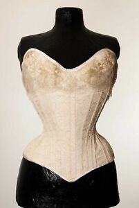 """""""aurora"""" overbust corset by maison moginot-nude with gold lace"""