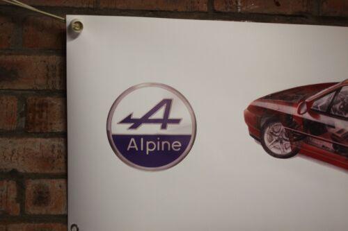 RENAULT Alpine GTA a610 Heavy Duty lavoro in pvc Negozio Garage Banner mostra