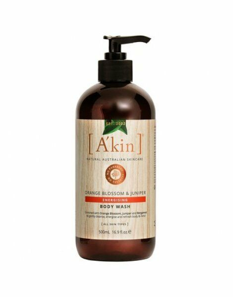 A'kin Orange Blossom & Juniper Energising Body Wash Natural Vegan Lotion 500ml
