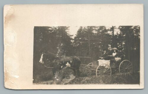 Fort Coulonge Quebec RPPC Horse Carriage—Rare Antique Pontiac CPA Photo 1910