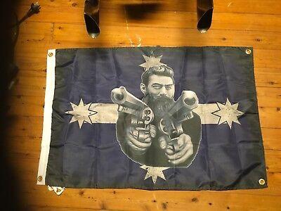 Ned Kelly man cave pool room flag outlaw bushranger biker bar sign aussie legend