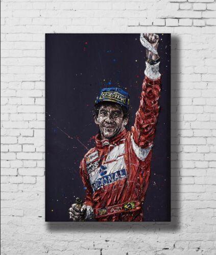 Hot New Car Racing Ayrton Senna F1 Formula New Print Poster 18 24x36 27x40 P-428
