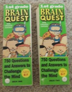 Brain Quest Grade 1st Grade Ages 6-7 Deck one and Deck two