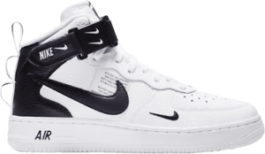 b1db19307a Grade School Nike Air Force 1 Mid LV8 White/Black AV3803-100 | eBay