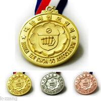 Korea Taekwondo Association Medal Korean Competition Tkd Kta Gold Silver Bronze