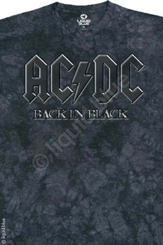 AC DC-BACK IN BLACK-TIE DYE TSHIRT ANGUS  M-L-XL-XXL Angus,Johnson,Bon Scott,Axl