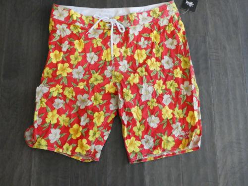 Stussy Wild Hawaii long Board shorts swim trunks surf new new men/'s 101480 red