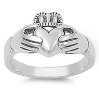 Sterling Silver Ring Plain - Claddagh