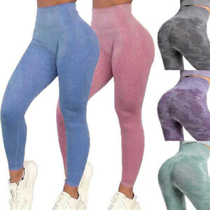 Women High Waist Yoga Leggings Seamless Fitness Ladies Sports Gym Pants Trousers