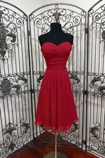 34ae024124f L202 BILL LEVKOFF 560 CRANBERRY SZ 8 COCKTAIL  191 PARTY DRESS GOWN ...