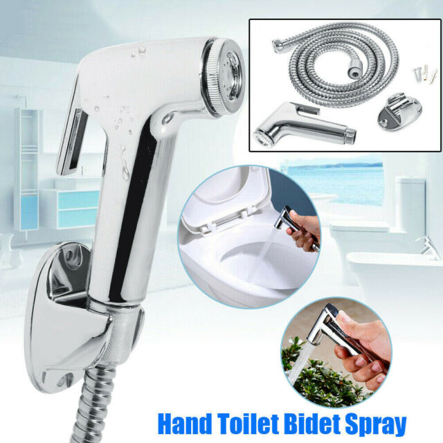 Shower Head Douche Bidet Toilet Spray Hand Held Jet Shattaf Kit Chrome