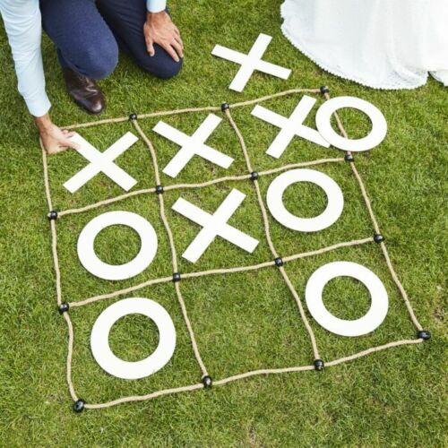 Outdoor Tic Tac Toe Spiel X und O I Spiel Hochzeiten Gartenparty draußen Kinder
