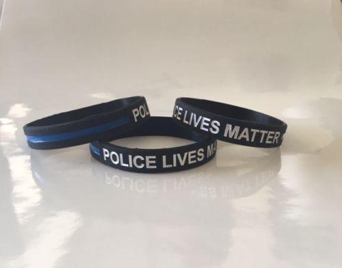 Thin Blue Line Bracelet Police LIVES MATTER Police Support Wristband C AC#VT