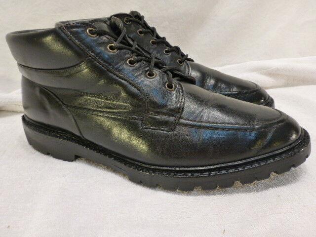 Allen Edmonds Mens Boots 8.5D, M Black Leather Cascade new shoes Ankle Chukka  635