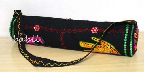 Elephant Multi Embroidered Yoga Mat Carrier Bag Sports Gym Bags New Yoga Mat Bag