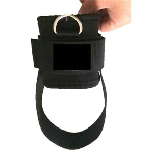 2x-Ankle-Strap-D-ring-Thigh-Leg-Pulley-Gym-Weight-Lifting-Sport-Cable-Attachment