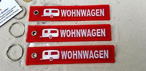 Wohnwagen-Caravan-Homemobil-3er-SET-Schluesselanhaenger-Aircraft-YakAir