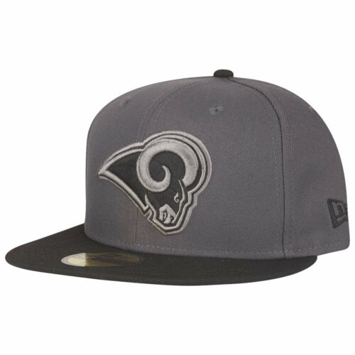 NFL Los Angeles Rams graphit New Era 59Fifty Fitted Cap